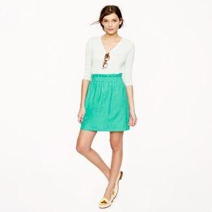 J.Crew Crinkle City Mini Skirt in Green